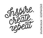 inspire create repeat...   Shutterstock .eps vector #626964263