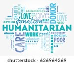 humanitarian word cloud collage ... | Shutterstock .eps vector #626964269