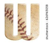 baseball seams themed bold... | Shutterstock . vector #626965058