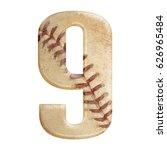 baseball seams themed bold... | Shutterstock . vector #626965484