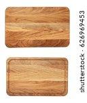 new rectangular wooden cutting... | Shutterstock . vector #626969453