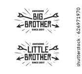 big brother little brother...   Shutterstock .eps vector #626971970
