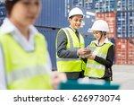 asian businessman and asian... | Shutterstock . vector #626973074