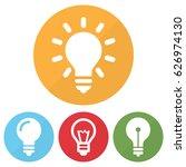 set of different lightbulb icon ...   Shutterstock .eps vector #626974130
