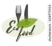 eco food logo template | Shutterstock .eps vector #626975414