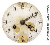 Ancient Weathered Clock Face...