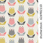 seamless floral pattern | Shutterstock .eps vector #626982110