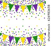 mardi gras background with... | Shutterstock .eps vector #626983658
