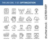 good quality thin line icons... | Shutterstock .eps vector #626984489