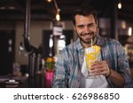 portrait of happy man having... | Shutterstock . vector #626986850
