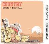 country music background with... | Shutterstock .eps vector #626992019