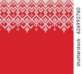 winter sweater design. seamless ... | Shutterstock .eps vector #626992760