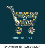 business icons are grouped in ... | Shutterstock .eps vector #626993234