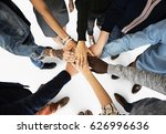 group of people holding hand... | Shutterstock . vector #626996636