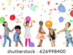 group of kids celebrate party... | Shutterstock . vector #626998400