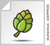 Cone Of Hops Icon. Vector...