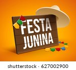 festa junina background holiday | Shutterstock .eps vector #627002900