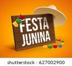 festa junina background holiday | Shutterstock .eps vector #627002900