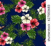 seamless pattern with  exotic... | Shutterstock .eps vector #627003683