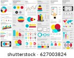 infographic elements data... | Shutterstock .eps vector #627003824