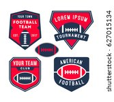 american football logo badge... | Shutterstock .eps vector #627015134