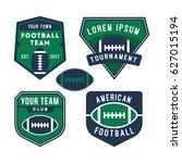 american football logo badge... | Shutterstock .eps vector #627015194