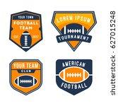 american football logo badge... | Shutterstock .eps vector #627015248