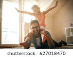 father and daughter spending... | Shutterstock . vector #627018470