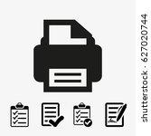 print icon stock vector... | Shutterstock .eps vector #627020744