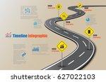 design template  road map... | Shutterstock .eps vector #627022103