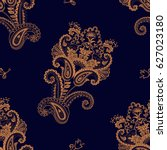 paisley floral seamless pattern.... | Shutterstock .eps vector #627023180