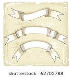 hand drawn retro styled ribbons