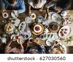 friends gathering together on... | Shutterstock . vector #627030560