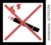 sign. cigarettes. no smoking. | Shutterstock .eps vector #627031154