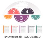 vector infographic design with... | Shutterstock .eps vector #627032810