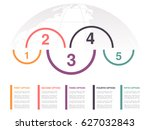 vector infographic design with... | Shutterstock .eps vector #627032843
