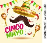 cinco de mayo vector realistick ... | Shutterstock .eps vector #627033230