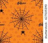 happy halloween seamless... | Shutterstock .eps vector #627035390