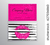 makeup artist business card.... | Shutterstock .eps vector #627036860