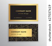luxury business card. gold and... | Shutterstock .eps vector #627037619