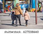 family and amusement park | Shutterstock . vector #627038660