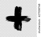 Hand Drawn Cross. Grunge Cross...