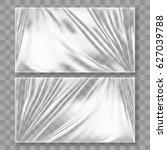 transparent glossy polyethylene ... | Shutterstock .eps vector #627039788