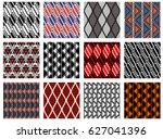 set of seamless vector... | Shutterstock .eps vector #627041396