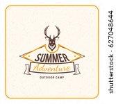 summer holidays camping poster. ...   Shutterstock .eps vector #627048644