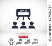 social network icon | Shutterstock .eps vector #627051794