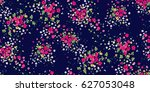 seamless floral pattern in... | Shutterstock .eps vector #627053048