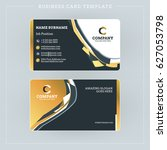 double sided business card... | Shutterstock .eps vector #627053798