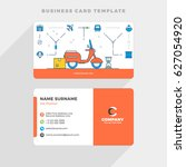 creative business card template ... | Shutterstock .eps vector #627054920