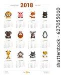 calendar design template for... | Shutterstock .eps vector #627055010